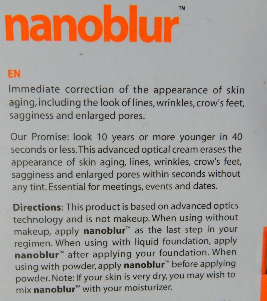 Indeed Laboratories nanoblur achter