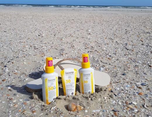 De nieuwe lavera zonnebrand producten