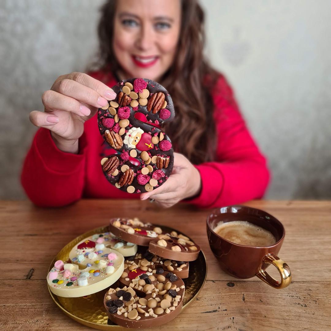 Chocoladeletter, een brief van Sinterklaas